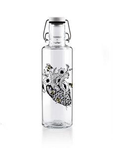 "soulbottle 0,6l • Trinkflasche aus Glas • ""No bees, no future"" - soulbottles"