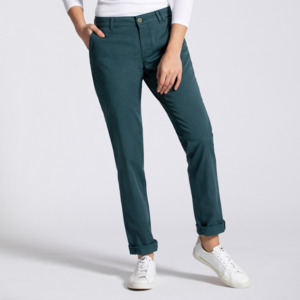 Laina Chino   Casual Fit   Emerald Green - Feuervogl