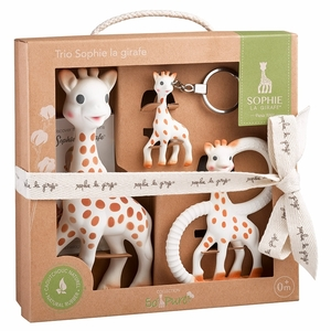 Set Trio So'Pure Sophie la girafe (Sophie+Beißring So'Pure+Schlüsselanhänger) - Vulli