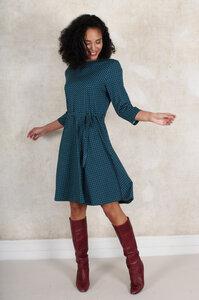 """Kleid aus Bambus-Faser und Bio-Baumwolle """"LB-031 Charlene dots"""" - Lykka du Nord"""