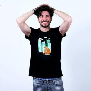 Go Green Mammoth - Printshirt Männer aus Biobaumwolle - Coromandel