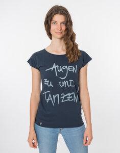 """Bio T-Shirt """"Lea Augen zu und Tanzen navy"""" - Zerum"""