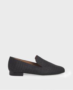 Crocodile Vegan Noir - schwarze Slipper aus recycelten Materialien - Momoc shoes