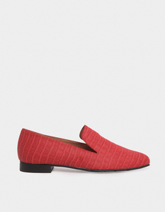 Crocodile Vegan Rouge - Rote Slipper aus recycelten Materialien - Momoc shoes