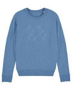 "Damen Sweatshirt aus Bio-Baumwolle ""ASCII Segler"" - University of Soul"