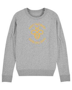 "Damen Sweatshirt aus Bio-Baumwolle ""Save the Bees"" - University of Soul"