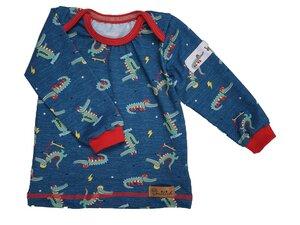 Babyshirt aus Biojersey Sport-Krokodil - Omilich