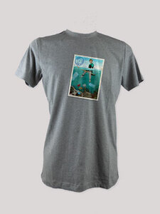 "T-Shirt ""deep down"", 100% Bio-Baumwolle, Eco-Print - ethicted"