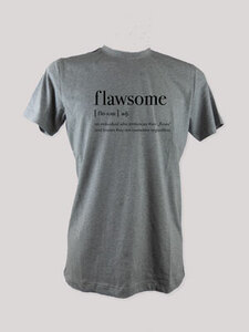 "T-Shirt ""flawsome"", 100% Bio-Baumwolle, Eco-Print - ethicted"