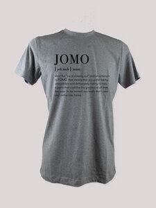 "T-Shirt ""JOMO"", 100% Bio-Baumwolle, Eco-Print - ethicted"