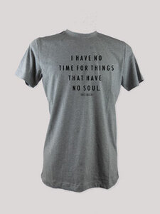"T-Shirt ""No Time"", 100% Bio-Baumwolle, Eco-Print - ethicted"