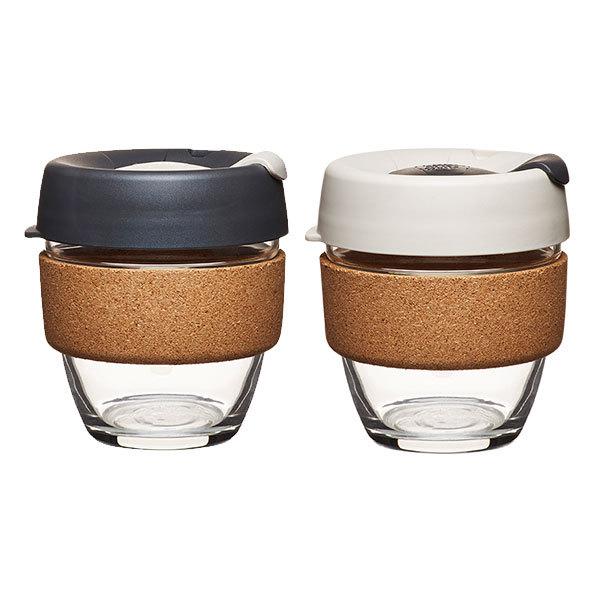 coffee to go becher aus glas mit grifffl che aus kork limited edition small 227ml von. Black Bedroom Furniture Sets. Home Design Ideas
