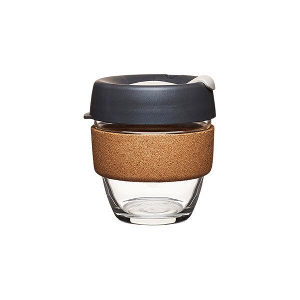 Coffee to go Becher aus Glas mit Grifffläche aus Kork - Limited Edition - Small 227ml