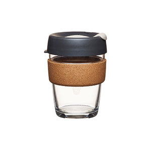 Coffee to go Becher aus Glas mit Grifffläche aus Kork - Limited Edition - Medium 340ml - KeepCup
