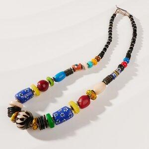 "Set ""Halskette & Armband"" aus afrikanischen Perlen ""MAIDUGURI"" - PEARLS OF AFRICA"