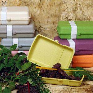 Lunch Box für Pausenbrot - biologisch abbaubar aus Bambusfasern und Mais - Zuperzozial