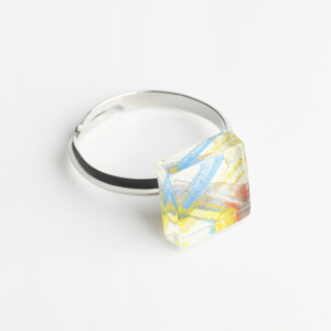 Bunter Ring aus Glas, mini | PUREFORM - ALEXASCHA
