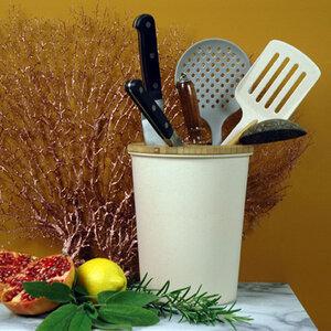 Messerblock + Aufbewahrung - biologisch abbaubar aus Biofasern und Mais - Zuperzozial