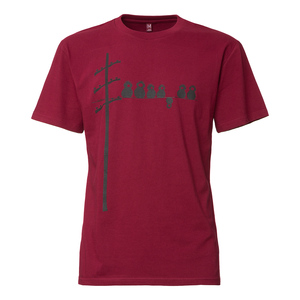 Fellherz Make Some Noise T-Shirt Man Black/Ruby - FellHerz