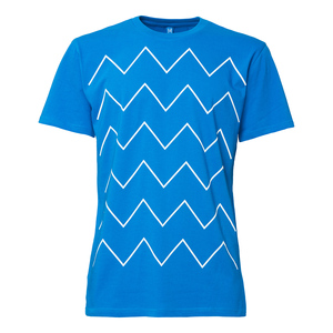 ThokkThokk Thin ZigZag T-Shirt Man White/French Blue - THOKKTHOKK