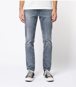 Nudie Jeans Bio-Denim Lean Dean Broken Sage - Nudie Jeans
