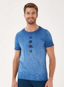 Garment Dyed T-Shirt aus Bio-Baumwolle mit Print - ORGANICATION