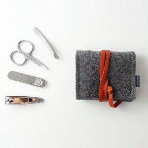 mini-maniküre-set 'jacob' aus Filz dunkelgrau - matilda k. manufaktur