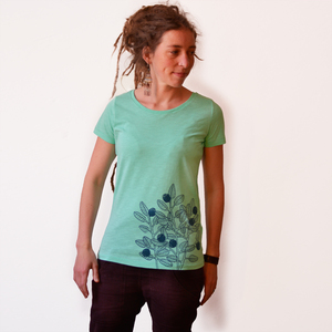 Damen T-Shirt Blaubeere mintgrün - Cmig