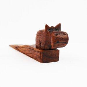 Türstopper aus Holz Nilpferd - Mitienda Shop