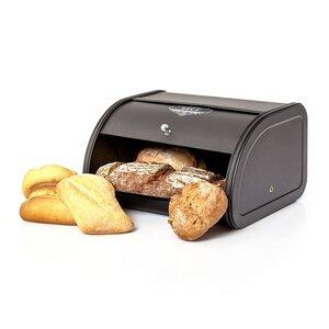 Brotbox / Brotkasten mit aufklappbaren Deckel in schwarz - Skojig
