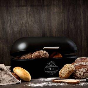 Brotkasten / Brotbox mit rundem Deckel in 4 Farben aus Metall - Skojig