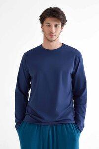 Herren Langarmshirt aus Bio-Baumwolle Rundhalsausschnitt T-Shirt - True North