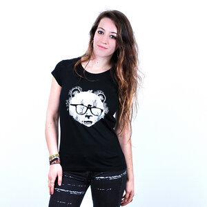 Panda Forest - T-Shirt Frauen mit Print aus Biobaumwolle - Coromandel
