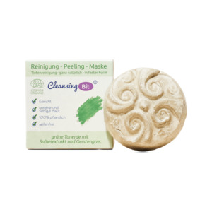 CleansingBit mit grüner Tonerde  |  in Schachtel 65g - Rosenrot Naturkosmetik