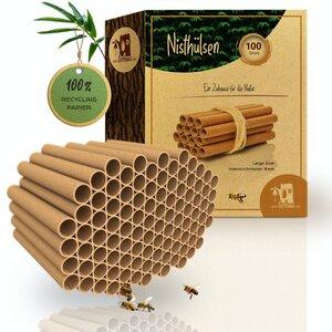 100% ökologische Pappröhrchen für Insektenhotel, Niströhren & Bruthülsen als Füllmaterial für Bienenhotel - Bambuswald