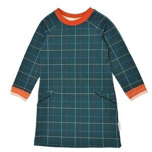 Baba Babywear Mädchenkleid langarm mit Taschen  kariert Bio-Baumwolle - Baba Babywear