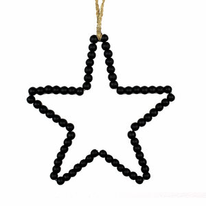 Wanddeko Stern aus Holzperlen - Mitienda Shop