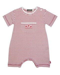 Baby Overall kurz rot-geringelt - Lana naturalwear