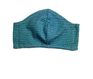 Mund- & Nasen- Maske / Behelfsmaske  Waschbare (Kinder)MABT-22/ hellblau Punkte /Dots auf eisblau Baumwolljersey (kbA) - Pat und Patty