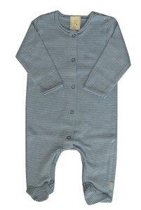 Baby Overall blau mit Fuß - Lana naturalwear