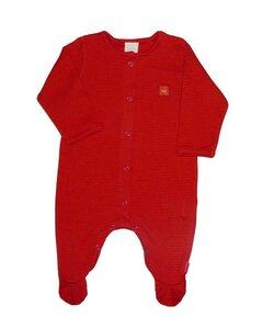 Baby Overall rot mit Fuß - Lana naturalwear