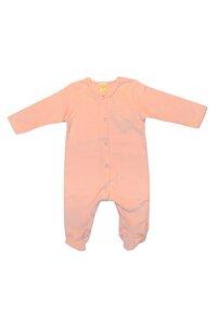 Baby Overall rosa /geringelt mit Fuß - Lana naturalwear
