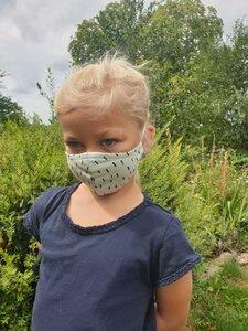 Mund- und- Nasen- Maske /Waschbare Behelfsmaske | Kinder & Erwachsen | Tropfen auf mint Baumwolljersey (kbA) bei PAT und PATTY - Pat und Patty