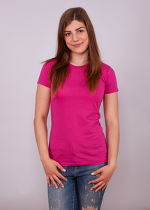 Shirt Womens Slim Fit T-Shirt Hot Pink - EarthPositive