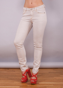 Jeans Lynn Color Denim Chalk Grey - Wunderwerk