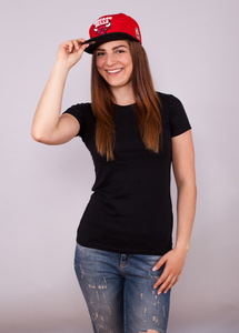 Shirt Womens Slim Fit T-Shirt Black - EarthPositive