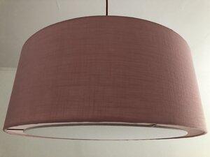 Hängeleuchte flat Leinen in verschiedenen Farben - my lamp