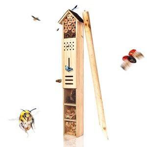 XXL Insektenhotel mit Erdspieß - Insektenhaus ca. 160cm Höhe - Bambuswald
