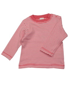 Kinder Langarmshirt Rot/Geringelt  - Lana naturalwear