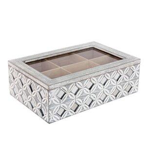 Tee Box mit Spiegeln grau - Mitienda Shop